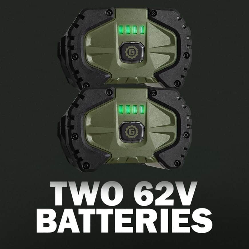 Two 62V Batteries + Rapid Charger