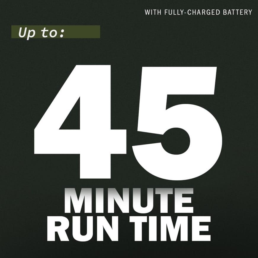 45 Minutes Run Time