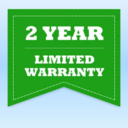 Lasko tower fan backed by 2-Year Limited Warranty