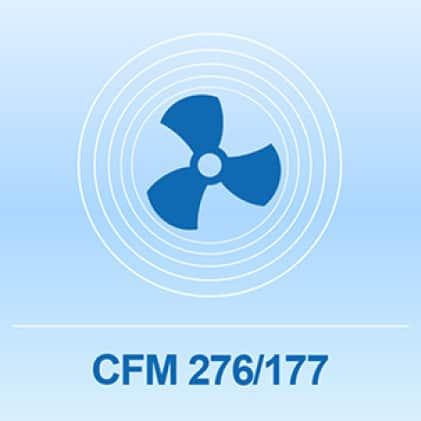Multi-speed tower fan up to 276 CFM
