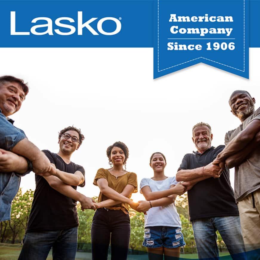 Outdoor tower fan by Lasko, an American Company since 1906