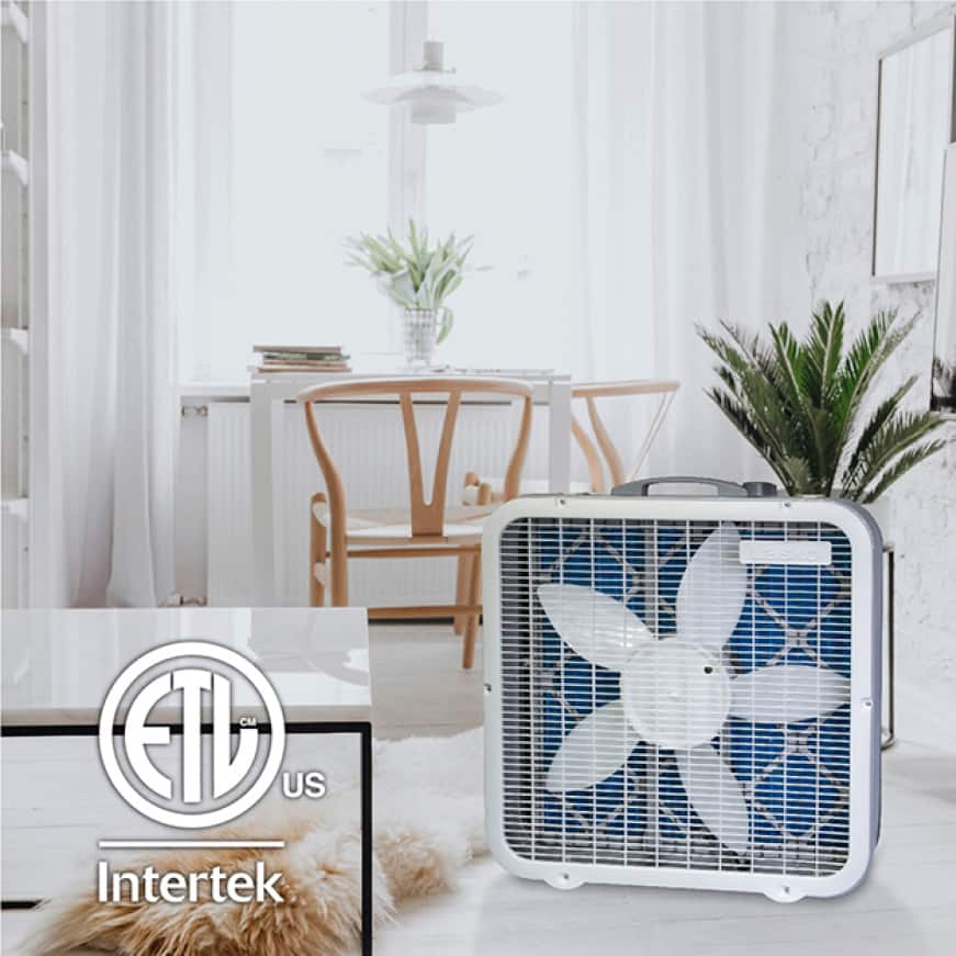 20 in. Air Purifier and Box Fan ideal for all rooms