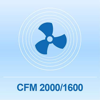 Box fan up to 2000 CFM