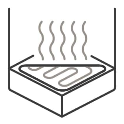 An icon of the oven interior. A cutaway of the bottom of the oven shows the hidden heating element.