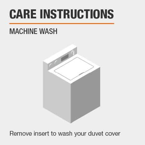 Duvet cover is machine washable