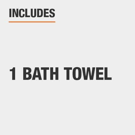Includes one bath towel