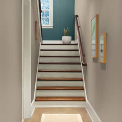 Hallway painted with DYNASTY paint