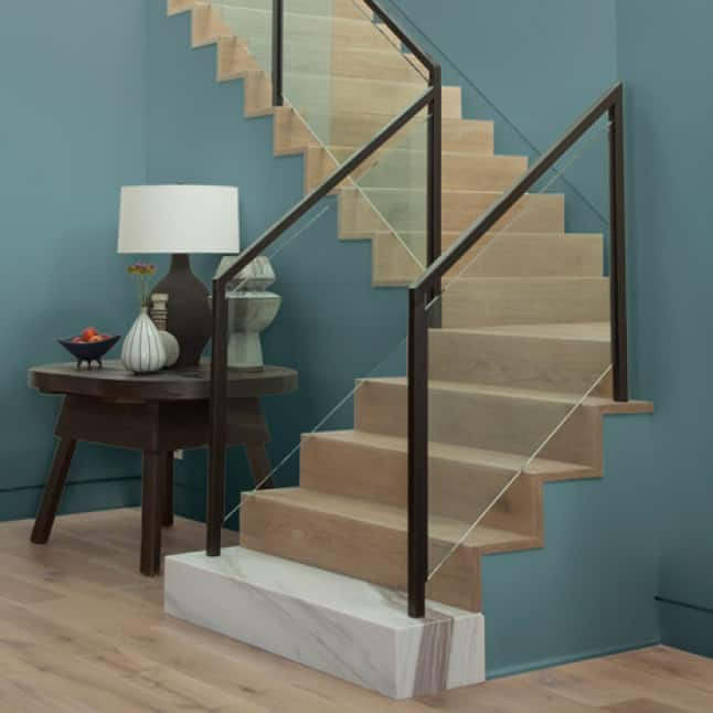 Stairway painted with DYNASTY paint