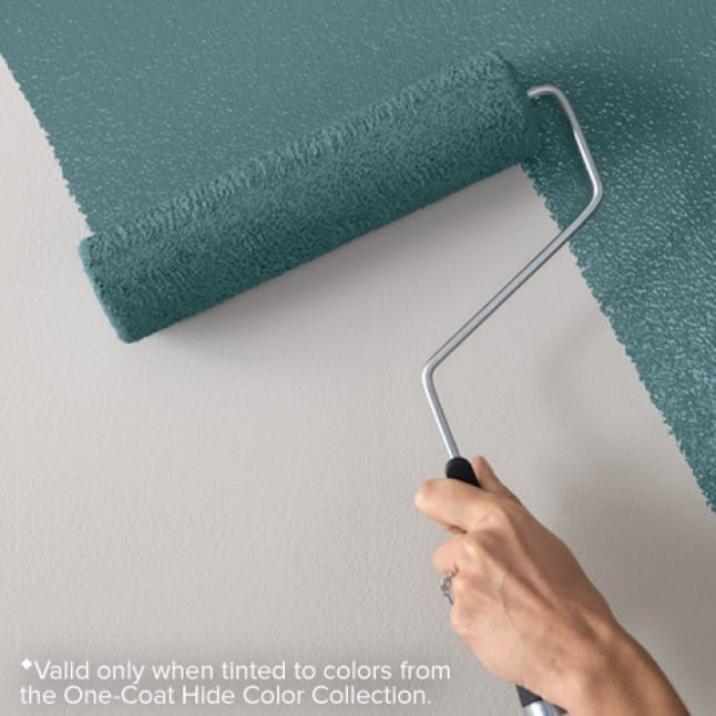 One-coat hide available in the One-Coat Hide palette of over 1000 colors
