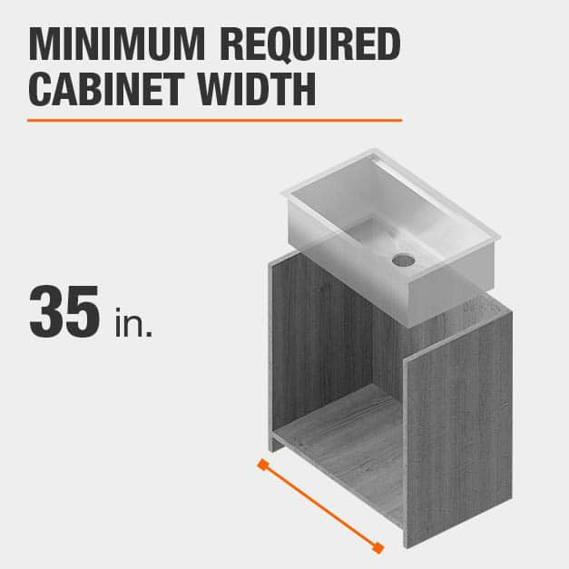 Minimum Required Cabinet Width 35 inches