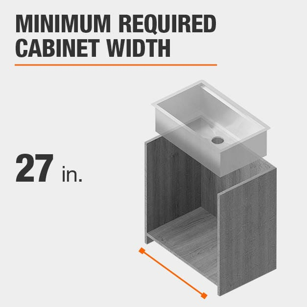 Minimum Required Cabinet Width 27 inches