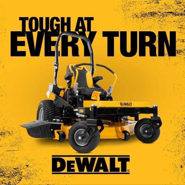 Dewalt Zero-Turn Mowers, Tough at every turn