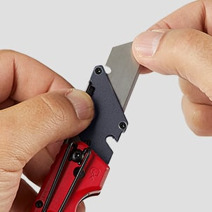 Metal Extension to Prevent Accidental Blade Removal