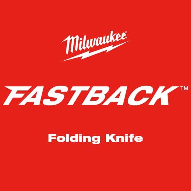 MILWAUKEE® FASTBACK™ Folding Utility Knife with Blade Storage
