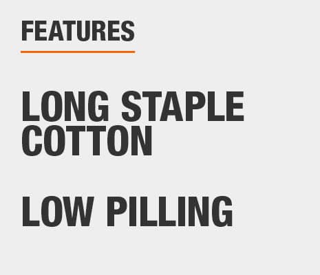 Bed sheets are made of Long Staple Cotton and are Low Pilling