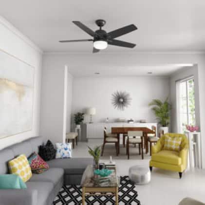 Large-room ceiling fan