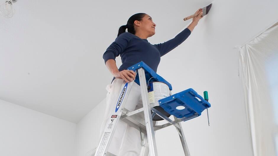 DIY Painter using an aluminum step ladder