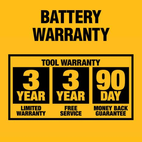 90-Day Money back guarantee and up to 3-year free service agreement. DCB201 has a 2-year limited warranty.