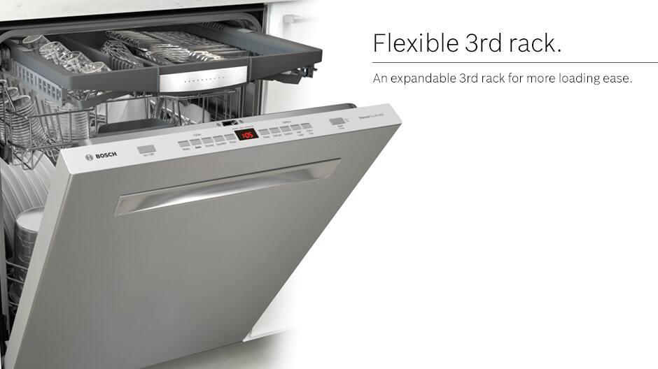 Bosch dishwasher flexible third rack