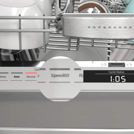 Bosch dishwasher Speed60 cycle