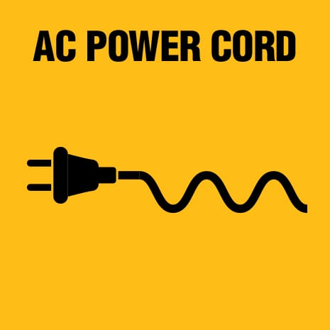The DCA120 120 VOLT MAX Corded Power Supply at 77 in. in length is included allowing flexible power options.