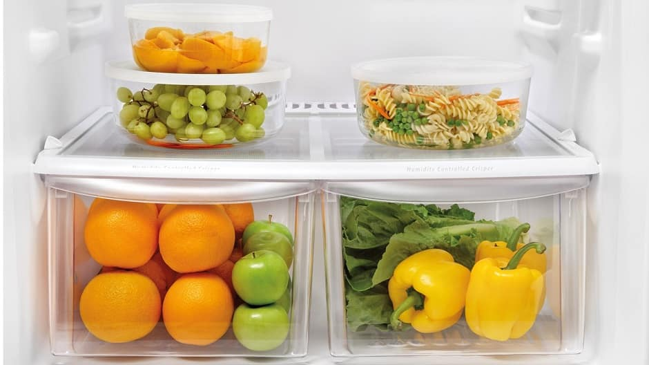 Crisper Drawers with food