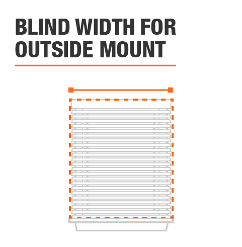 Window Width is 64 in. for outside mount