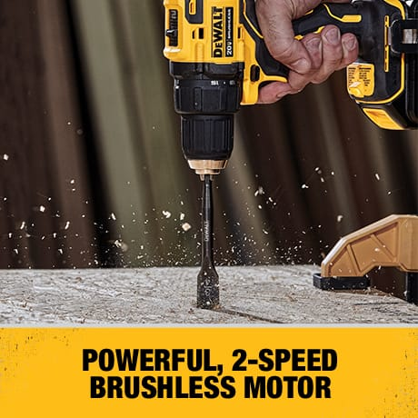2-Speed brushless motor and variable speed trigger allows for control and precision on a range of work surfaces.