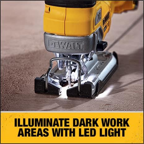 Bright LED Light helps to illuminate dimly lit work surfaces.