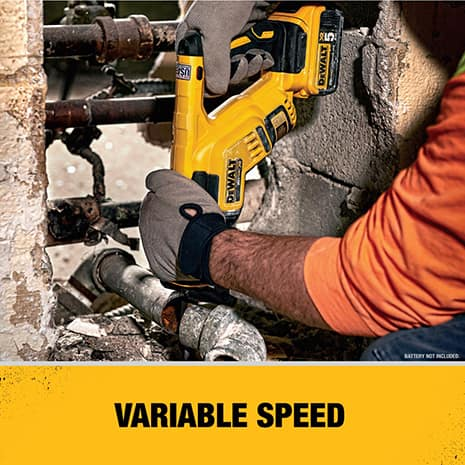 Variable speed trigger delivers up to 2900 Strokes Per Minute (SPM).