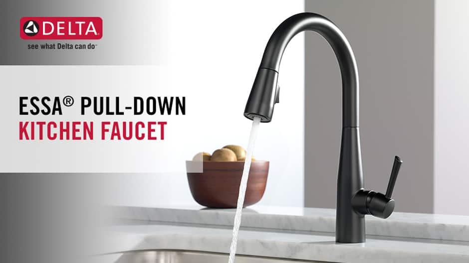 Essa Single-Handle Pull-Down Kitchen Faucet