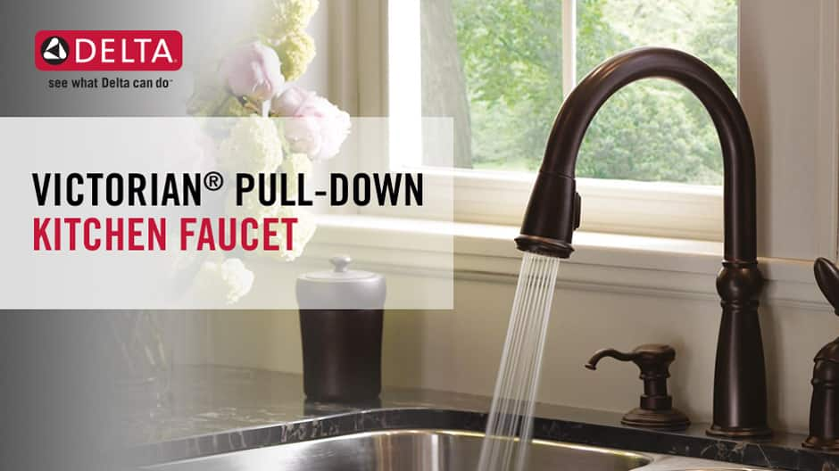 Victorian Single-Handle Pull-Down Kitchen Faucet