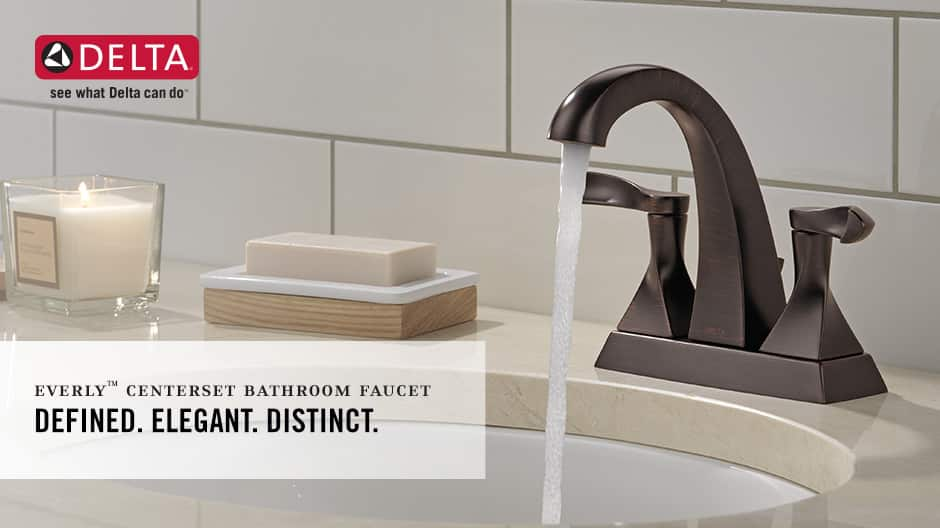 Everly 2-Handle Centerset Bathroom Faucet with Worry-Free Drain Catch