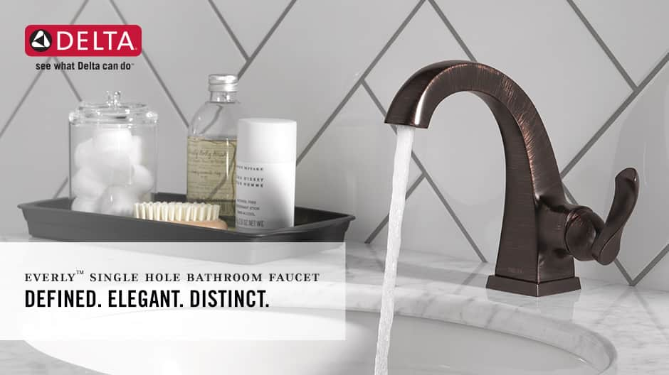 Everly Single-Handle Bathroom Faucet with Worry-Free Drain Catch
