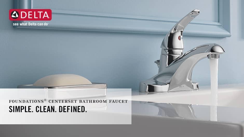 Foundations Single-Handle Centerset Bathroom Faucet
