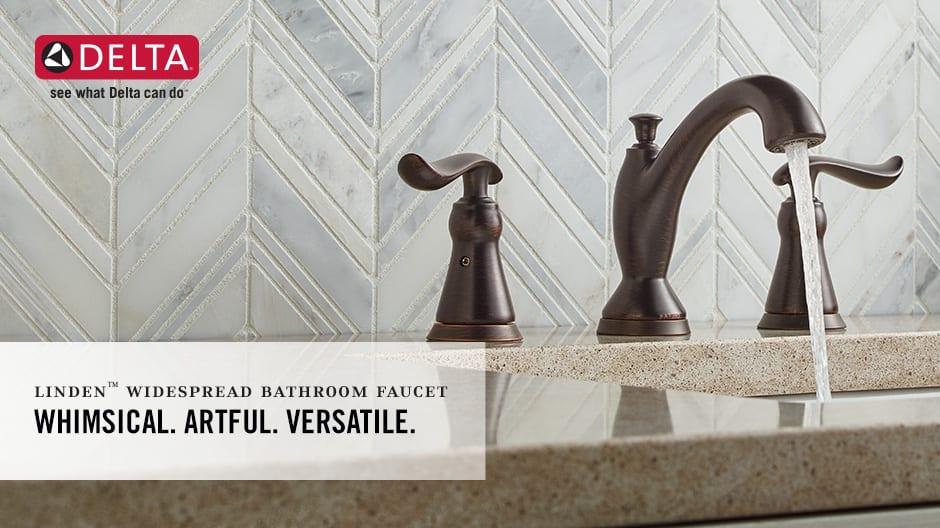Linden 2-Handle Centerset Bathroom Faucet with DIAMOND Seal Technology
