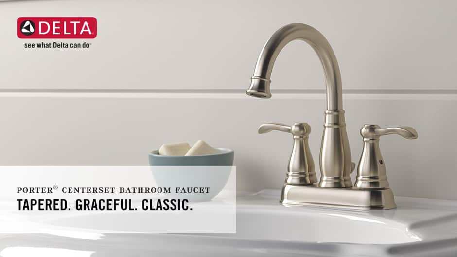Porter 2-Handle Centerset Bathroom Faucet