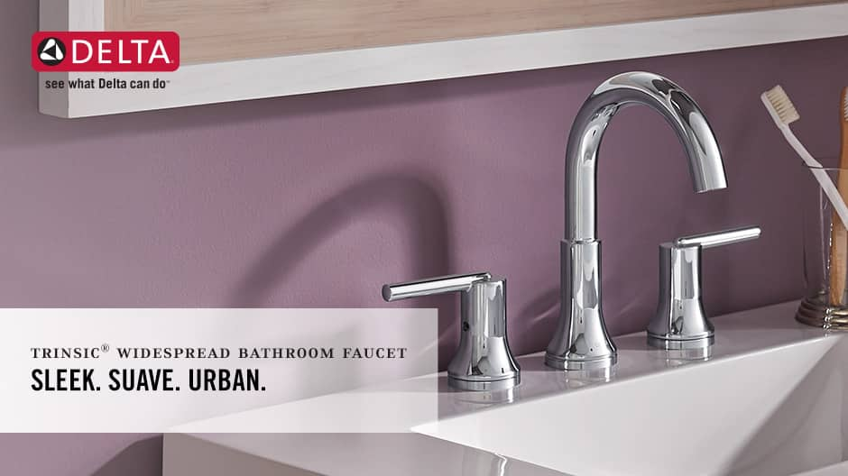 Trinsic 2-Handle Widespread Bathroom Faucet with DIAMOND Seal Technology