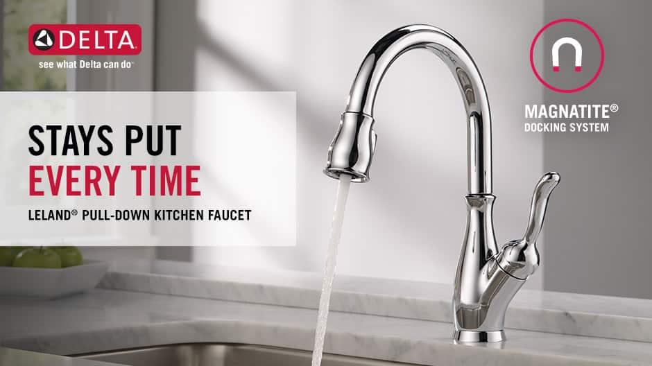Leland Single-Handle Pull-Down Kitchen Faucet