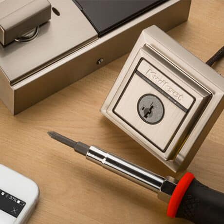 Kevo lock installation with screwdriver