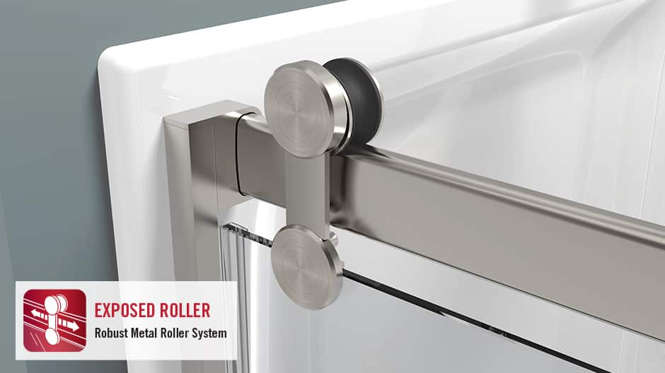 Contemporary Shower Door Track