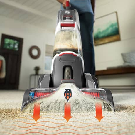 SmartWash Carpet Cleaner showing the HeatForce feature and how it dries carpet faster.