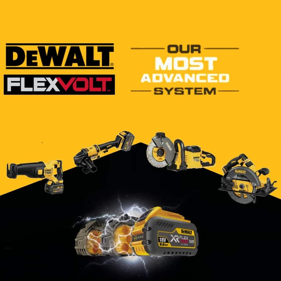 DEWALT FLEXVOLT batteries work with our 20 VOLT MAX tools and our most powerful cordless tools. They automatically switch voltage when changing tools.
