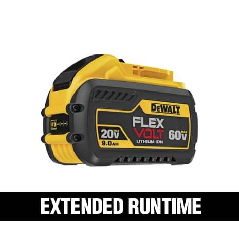 360 Watt Hours when two DEWALT FLEXVOLT DCB609 batteries are used in 120 VOLT MAX tools.
