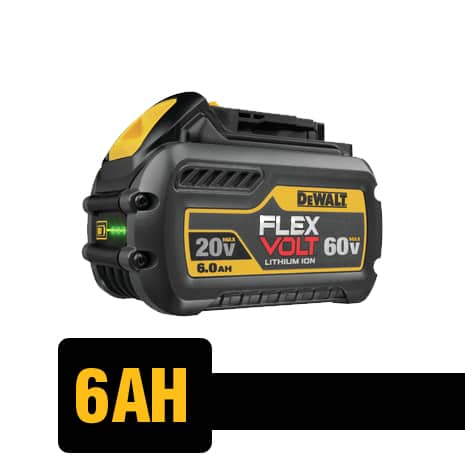 The DCB606 is able to deliver the power of corded when used with 60V MAX or 120V MAX tools