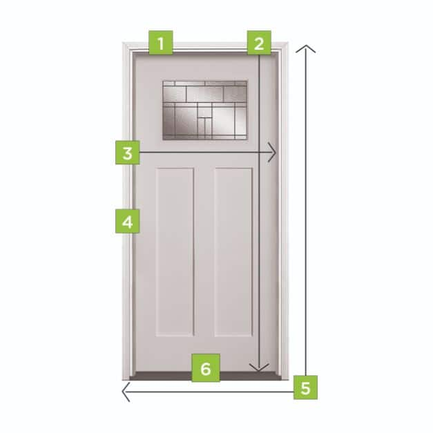 Measurements for replacing a Masonite Steel Fiberglass Door