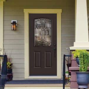 Masonite Feldspar Craftsman Exterior Steel Door in Golden Haystack