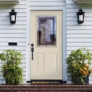Masonite Half Lite Quest Exterior Steel Door in Canyon