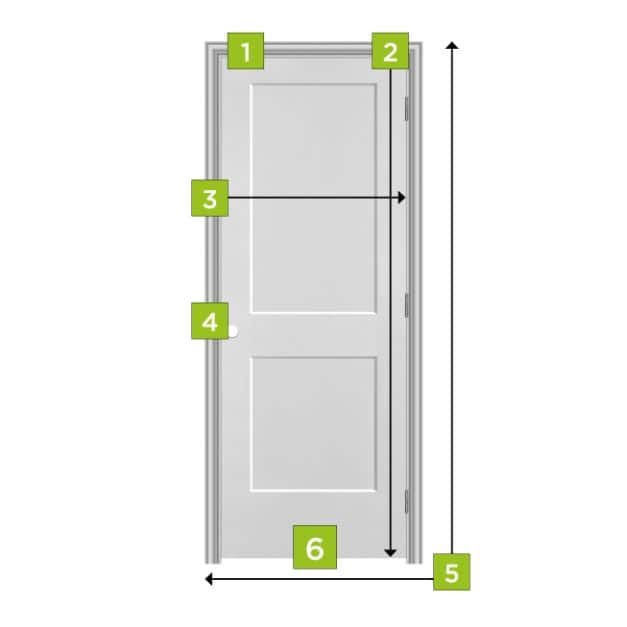 Measurements for replacing a Masonite Interior Molded Panel Door