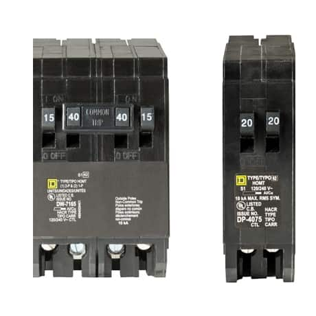 Get more circuits per space with tandem breaker design
